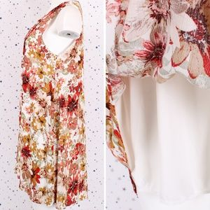 Dresses - Floral Print Lace Up Sleeveless A-line Mini Dress